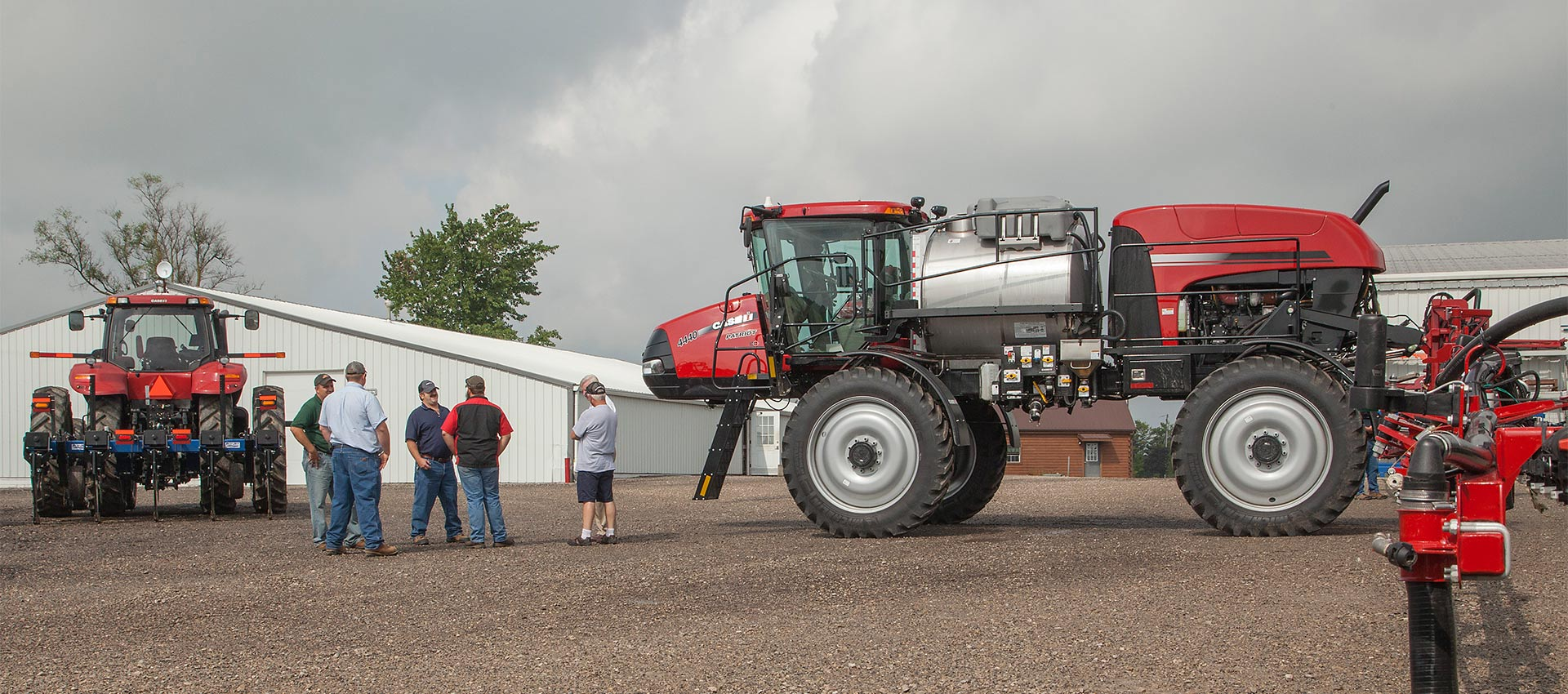 Case IH tractor and sprayer