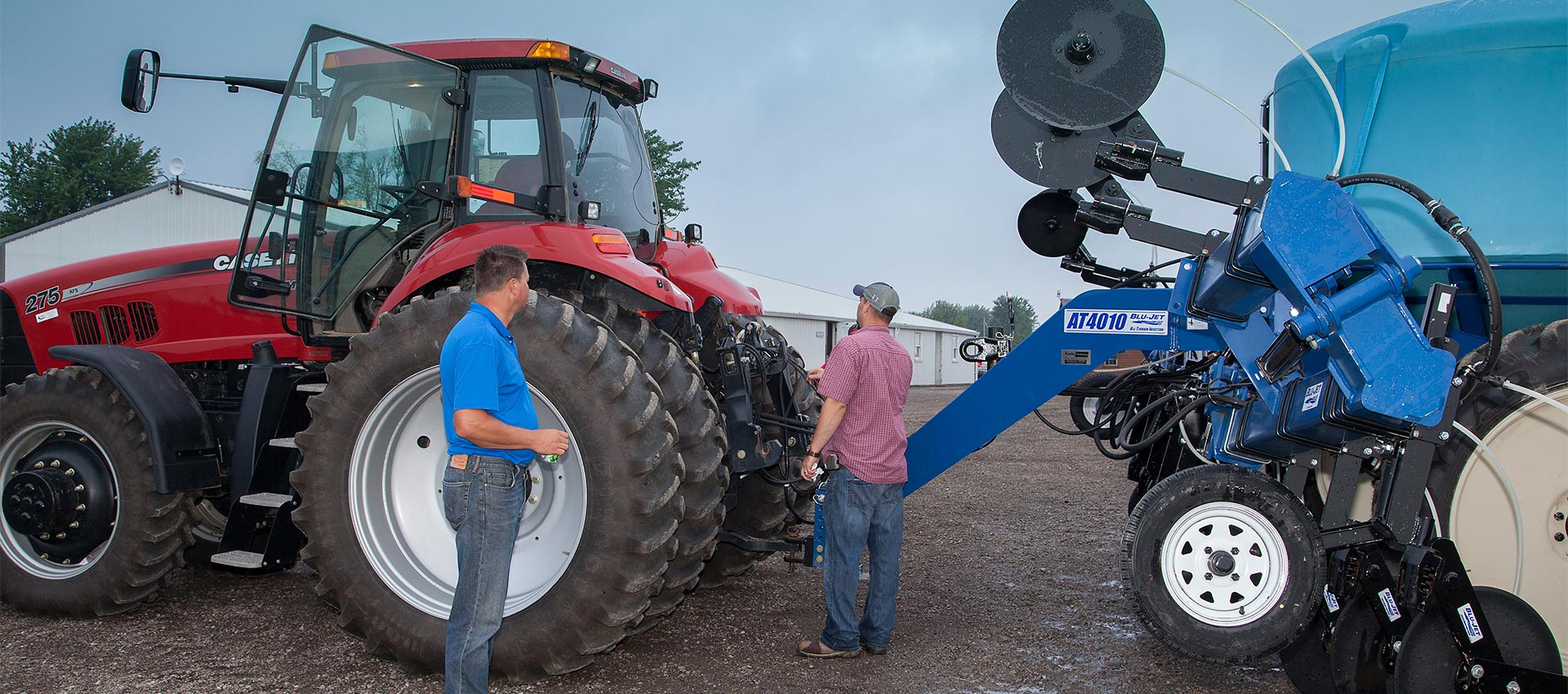 Case IH tractor and Blu Jet equipment